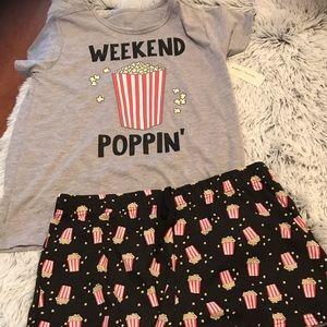 Weekend Poppin Sleep Wear Set NWT